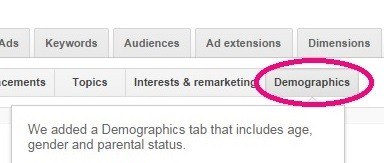 AdWords Slowly Launches Demographics Targeting Tab