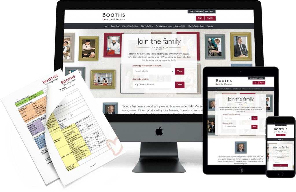 Responsive Design — Booths Recruitment