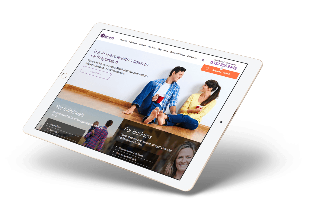 iPad — Right — Hero and Content