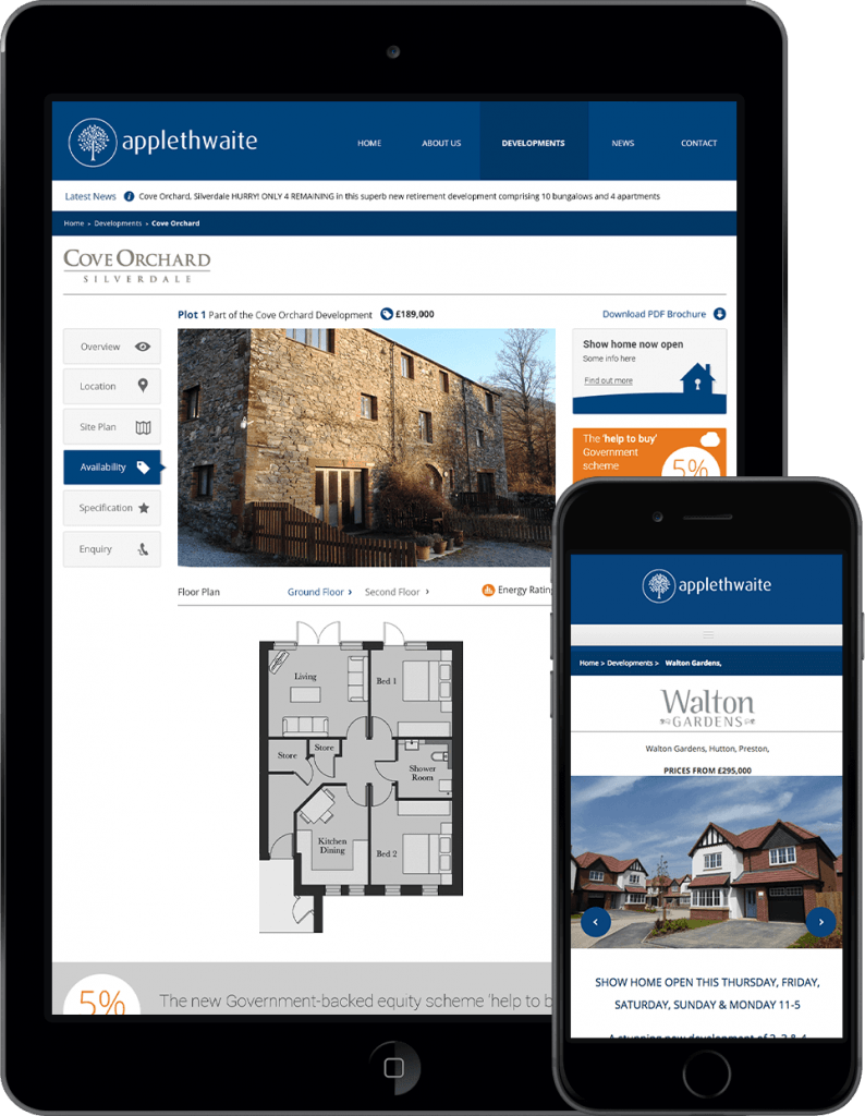 Applethwaite Homes iPad iPhone