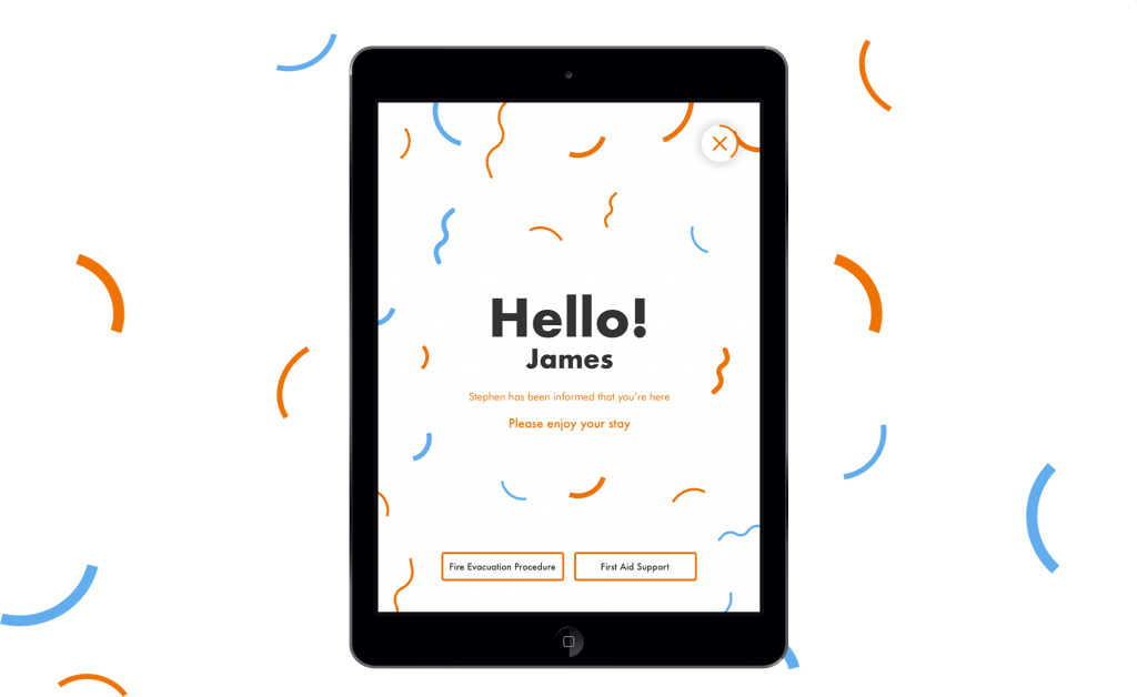 N Brown — Visitor Management System — iPad — End Screen