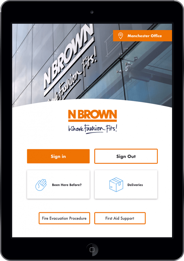 N Brown — Visitor Management System — iPad